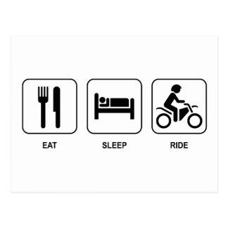 Eat Sleep Ride Postcard