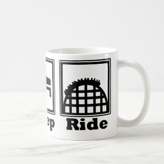 Eat, Sleep, & Ride (Roller Coasters) - Black Coffee Mug