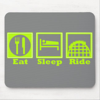 Eat Sleep Ride Roller Coasters Mouse Pad