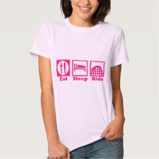 Eat, Sleep, & Ride (Roller Coasters) - Pink New! Shirts