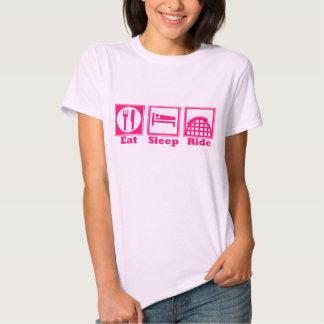 Eat, Sleep, & Ride (Roller Coasters) - Pink Tee Shirt