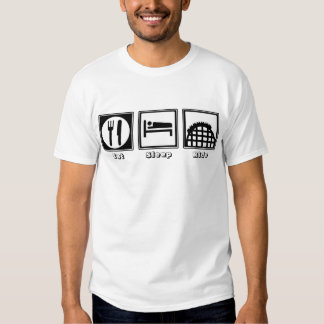 Eat, Sleep, & Ride (Roller Coasters) T-Shirt