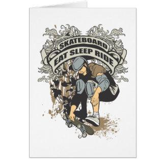 Eat, Sleep, Ride Skateboard Cards