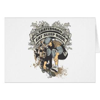 Eat, Sleep, Ride Skateboard Card