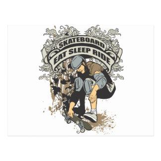 Eat, Sleep, Ride Skateboard Post Card