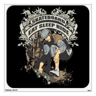 Eat, Sleep, Ride Skateboard Room Sticker
