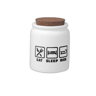 Eat Sleep ride Sled Candy Dish