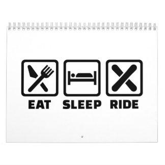 Eat Sleep ride Snowboard Wall Calendar