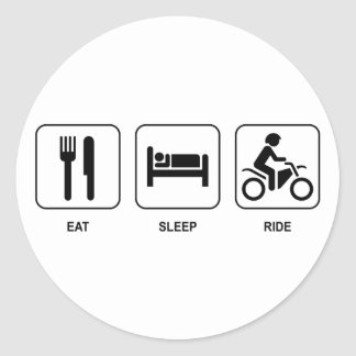 Eat Sleep Ride Classic Round Sticker