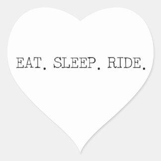 Eat Sleep Ride Heart Sticker