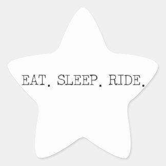 Eat Sleep Ride Star Sticker