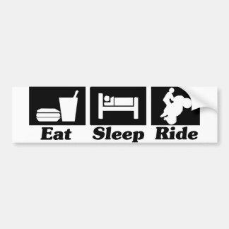 Eat Sleep Ride Sticker Car Bumper Sticker