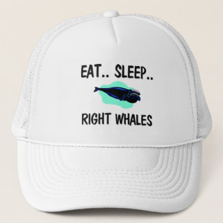 Eat Sleep RIGHT WHALES Trucker Hat