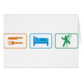 eat sleep -rock climb greeting cards