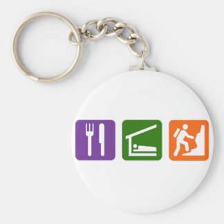 Eat Sleep Rock Climbing 2 Keychain