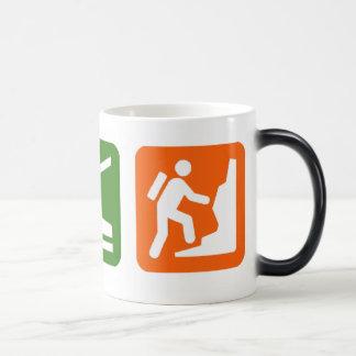 Eat Sleep Rock Climbing 2 11 Oz Magic Heat Color-Changing Coffee Mug