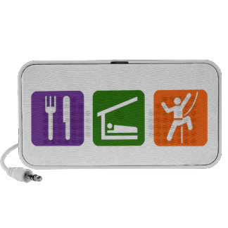 Eat Sleep Rock Climbing 2 Notebook Speaker