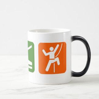 Eat Sleep Rock Climbing 11 Oz Magic Heat Color-Changing Coffee Mug