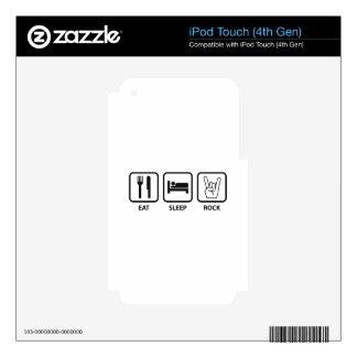 Eat Sleep Rock iPod Touch 4G Decal
