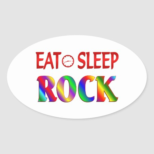 Eat Sleep Rock Sticker