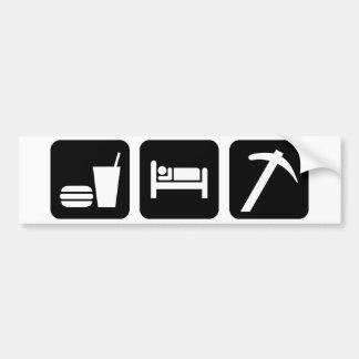 Eat Sleep Rockhound Bumper Sticker