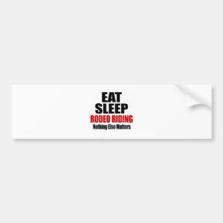 EAT SLEEP RODEO RIDING CAR BUMPER STICKER