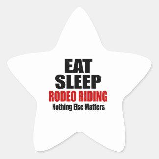 EAT SLEEP RODEO RIDING STAR STICKER
