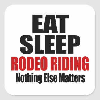 EAT SLEEP RODEO RIDING SQUARE STICKER