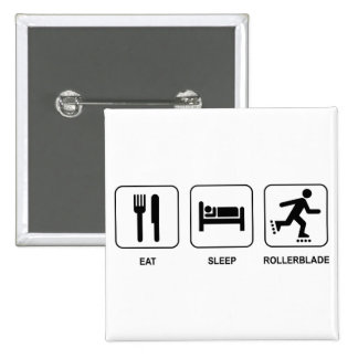 Eat Sleep Rollerblade 2 Inch Square Button