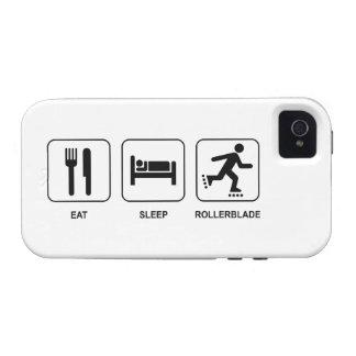 Eat Sleep Rollerblade Case-Mate iPhone 4 Covers