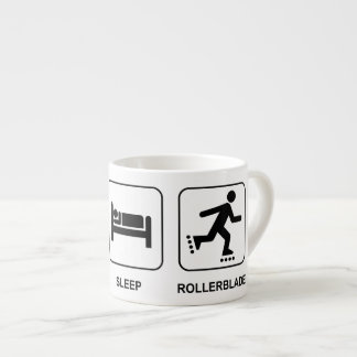 Eat Sleep Rollerblade Espresso Cup