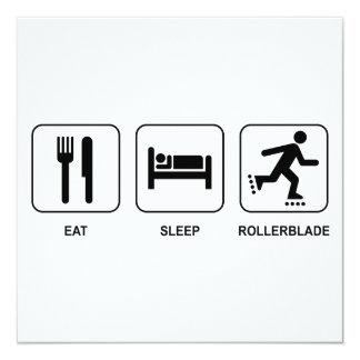 Eat Sleep Rollerblade Invitation