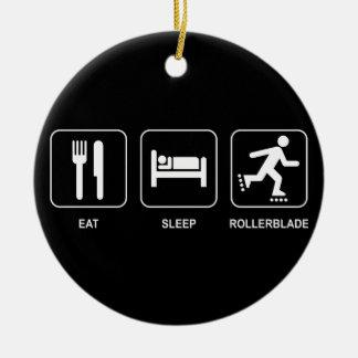Eat Sleep Rollerblade Ornament