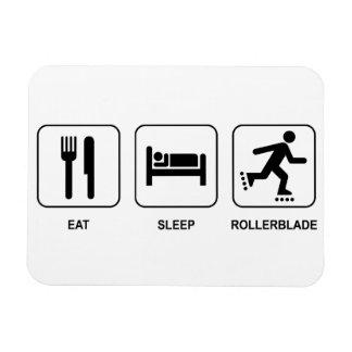 Eat Sleep Rollerblade Rectangular Photo Magnet