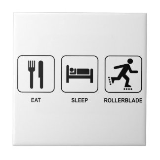 Eat Sleep Rollerblade Small Square Tile