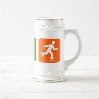 Eat Sleep Rollerblading Beer Stein