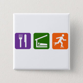 Eat Sleep Rollerblading Button