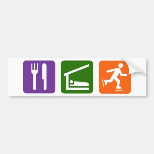 Eat Sleep Rollerblading Car Bumper Sticker
