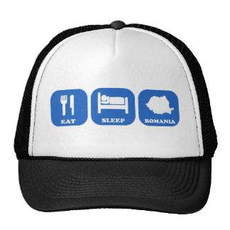 Eat Sleep Romania Trucker Hats