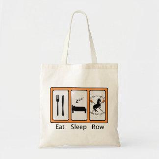 Eat Sleep Row Budget Tote Bag