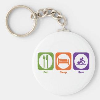 Eat Sleep Row Keychain