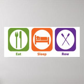 Eat Sleep Row Poster