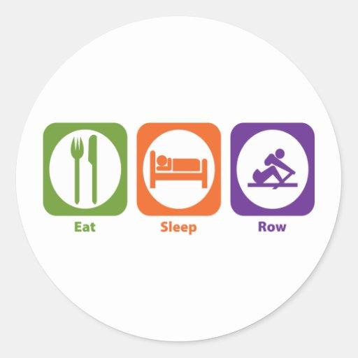 Eat Sleep Row Round Sticker