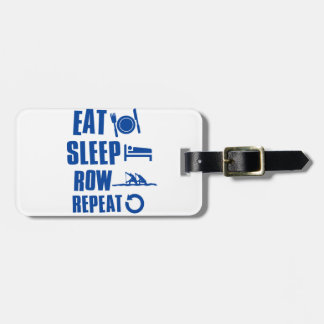 Eat sleep row tags for luggage