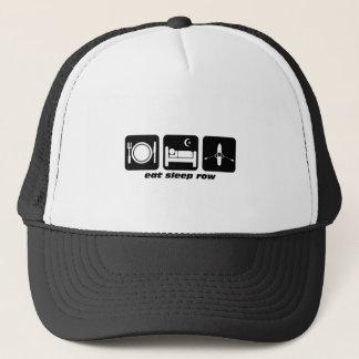 eat sleep row trucker hat