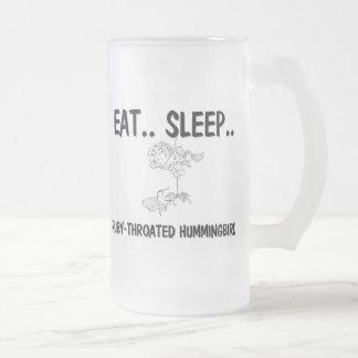 Eat Sleep RUBY-THROATED HUMMINGBIRDS Coffee Mug