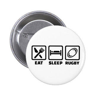 Eat sleep Rugby Button