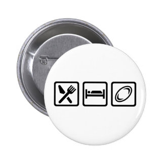 Eat sleep Rugby Pinback Button