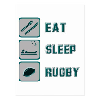 Eat Sleep Rugby Postcard