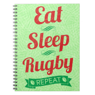 Eat Sleep Rugby Repeat Notepad Notebook